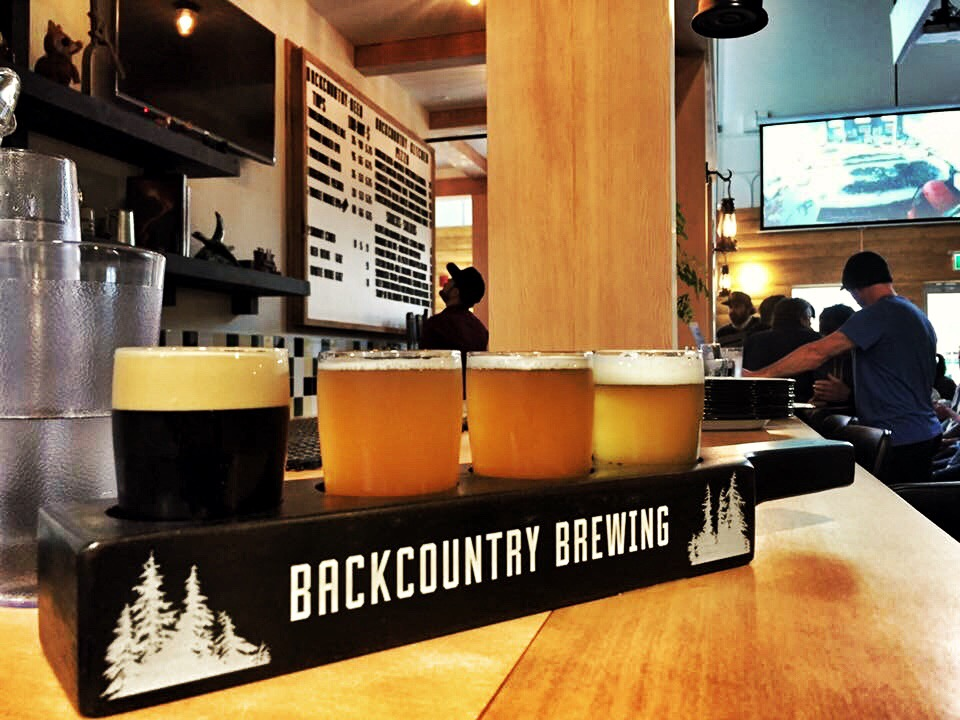 Backcountry Brewing Tap Handles And Beer Flights