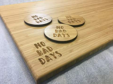 Wooden Serving Board No Bad Days