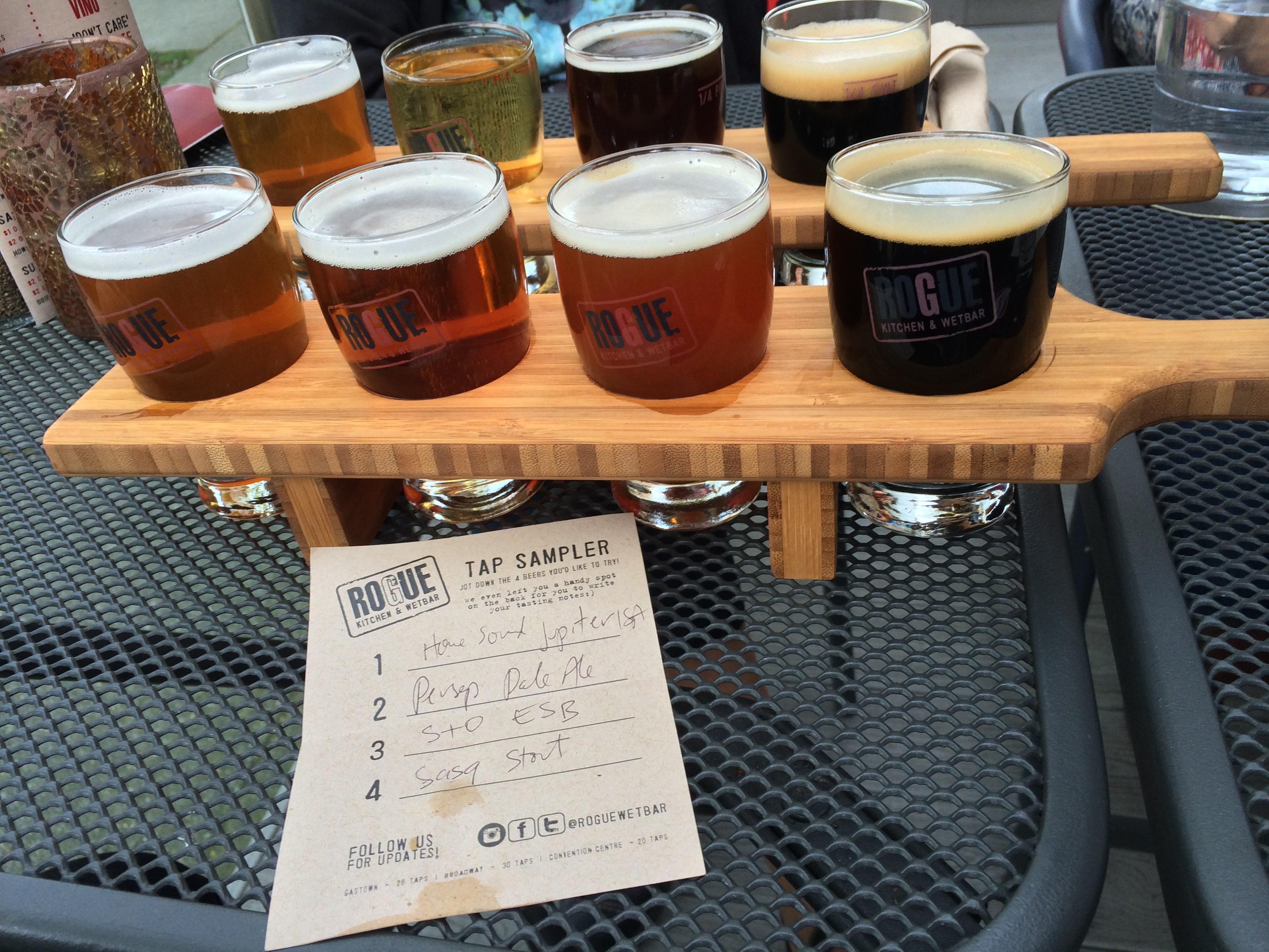 Craft Beer Tasting Paddles Sampler Flights Smooth Edge Design